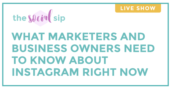 Blog header that says What Marketers and Business Owners Need to Know About Instagram Right Now.