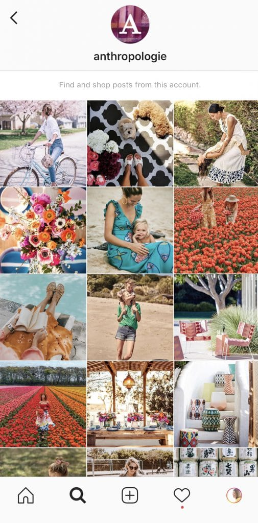 anthropologie shoppable Instagram Pictures