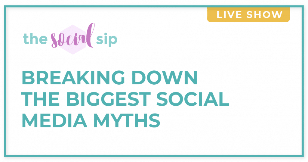 Blog header with text that says breaking down the biggest social media myths.