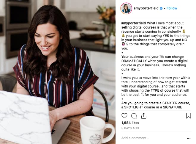 nstagram pros like Amy Porterfield, use education posts to reinforce their expertise and stand out as thought leaders.