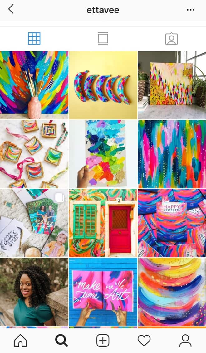 @EttaVee uses a mix of vibrant Parisian inspiration and splashes of color to create an irresistible Instagram feed.