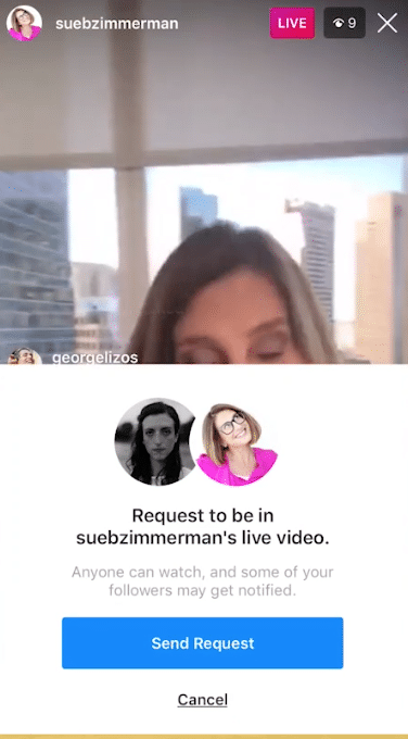 Sue B Zimmerman shares how to respond to an Instagram Live guest request