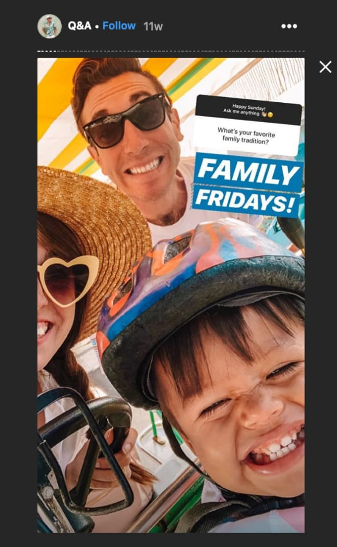 Jeff Mindell shares a family snapshot in his Instagram Highlights.