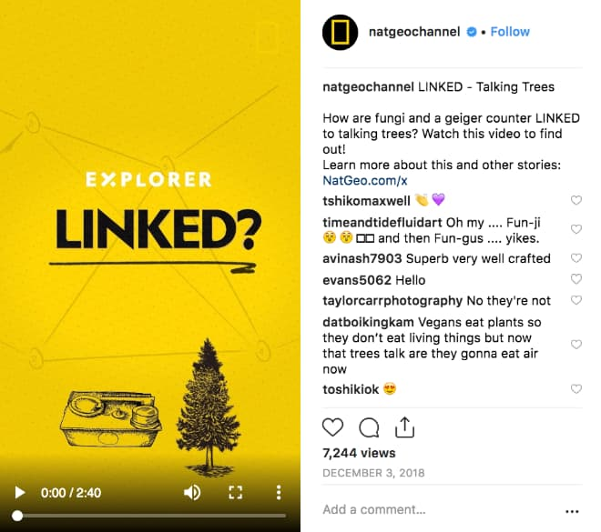 """ational Geographic video promoting their """"Explorer Linked"""" series."""