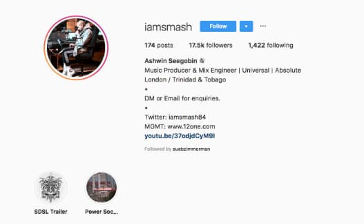 Adding I am to the beginning of his username falls right in line with I am Smash's Instagram brand aesthetic.