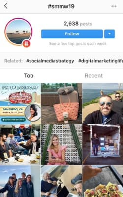 Social Media Marketing World's SMMW19 hashtag hub.