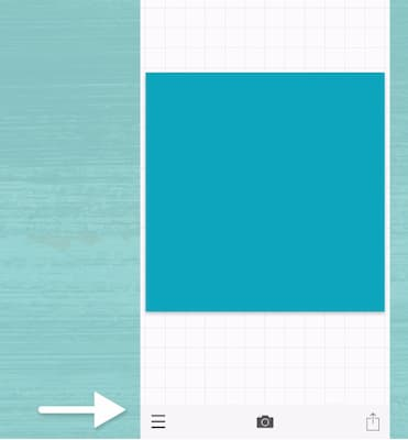 Sue B Zimmerman taps on the three bars in the bottom right corner of the Phonto app.