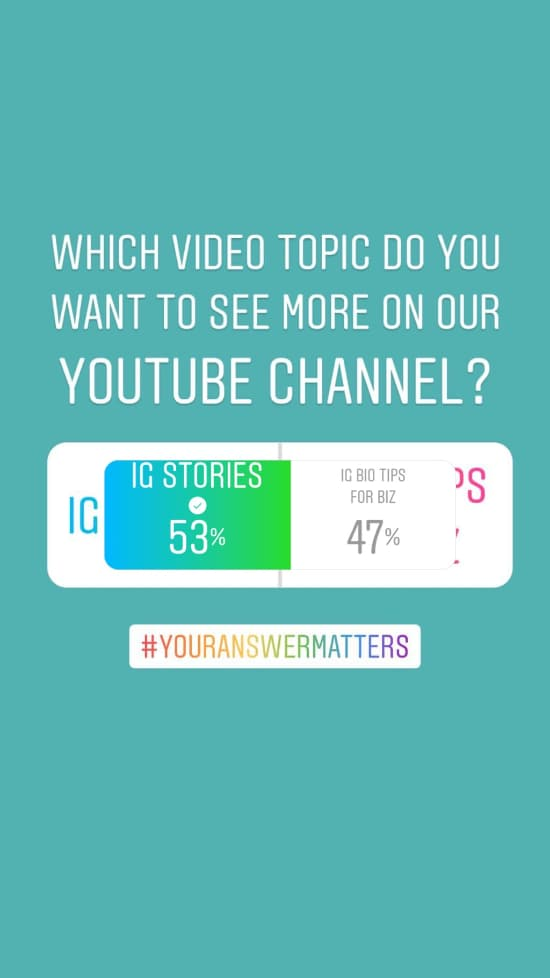 Sue B Zimmerman shares a yes or no question option in her Instagram Stories poll.