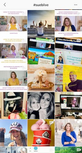 The hashtag hub of all the Instagram posts tagged with #SueBLive.