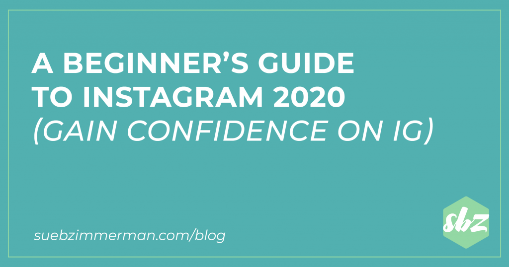 Blog header with a teal background that says Instagram Coaching for Beginners.