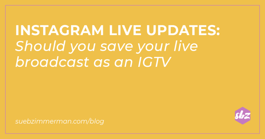 Blog banner with a yellow background and text that says Instagram Live Updates.