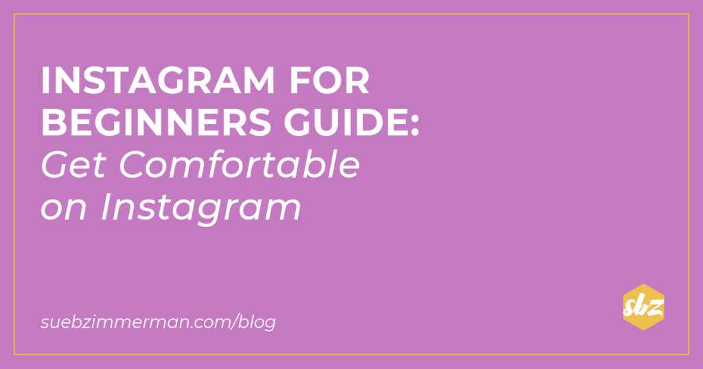 A purple blog banner with text that says instagram for beginners guide: get comfortable on Instagram.