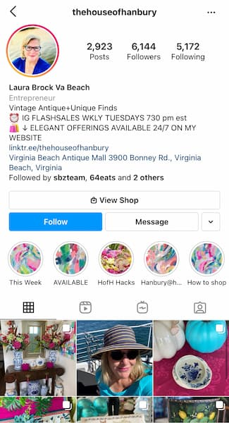 Laura's The House of Hanbury Instagram™ feed.